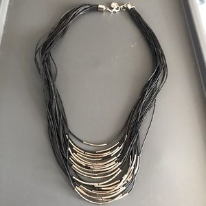 Silver & hemp necklace!